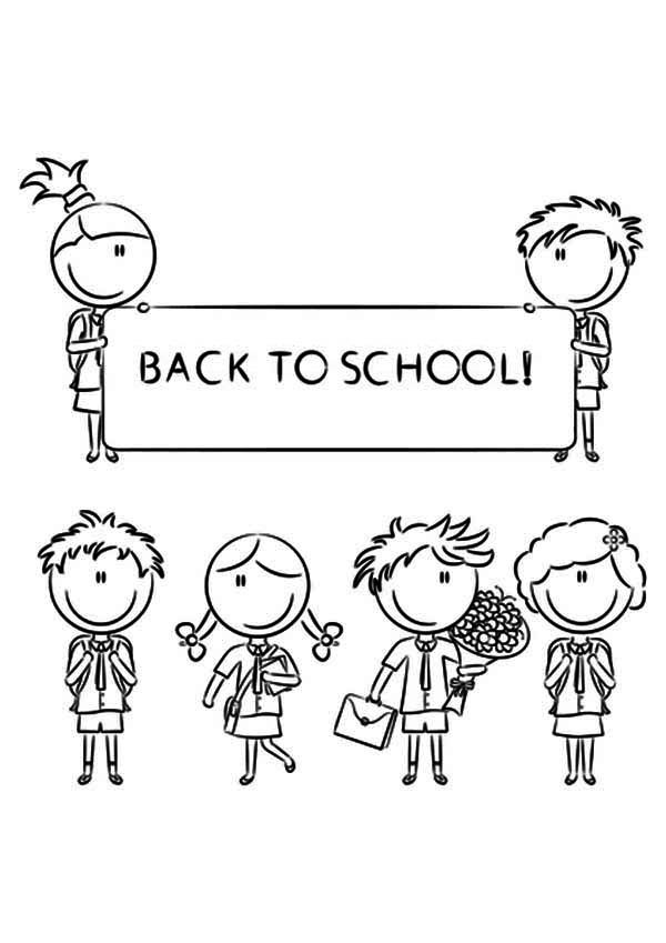 Back To School Coloring Pages  Back to School Coloring Pages Best Coloring Pages For Kids
