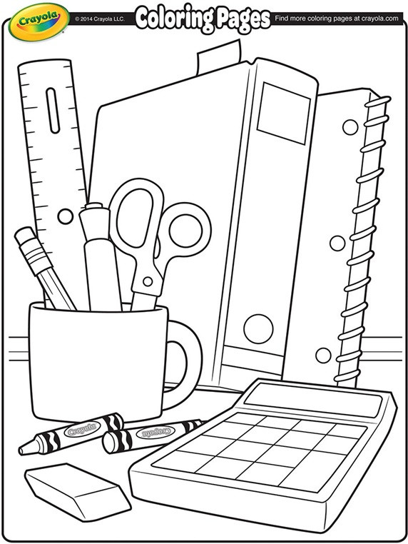 Back To School Coloring Pages  School Supplies Coloring Page