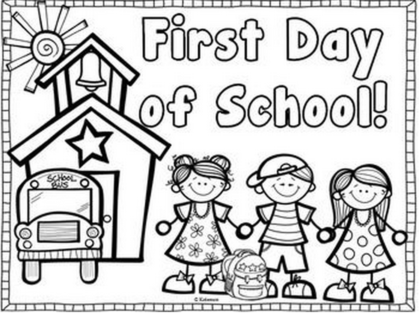 Back To School Coloring Pages  First Day of School & Coloring Book