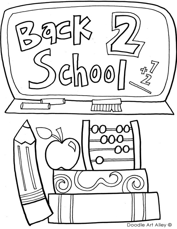 Back to School Coloring Pages New Back to School Coloring Pages & Printables Classroom Doodles