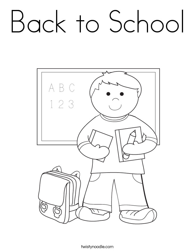 Back To School Coloring Pages  Back to School Coloring Page Twisty Noodle