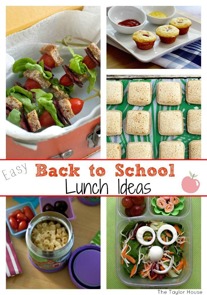 Back To School Lunch Ideas  Easy Back to School Lunch Ideas