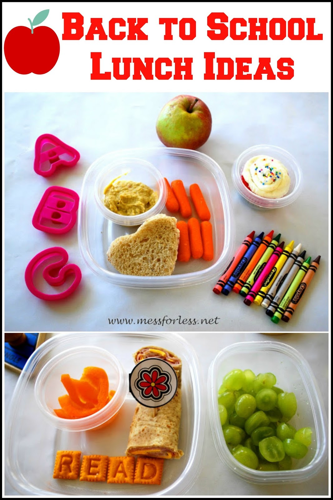 Back To School Lunch Ideas  Back to School Lunch Ideas Mess for Less