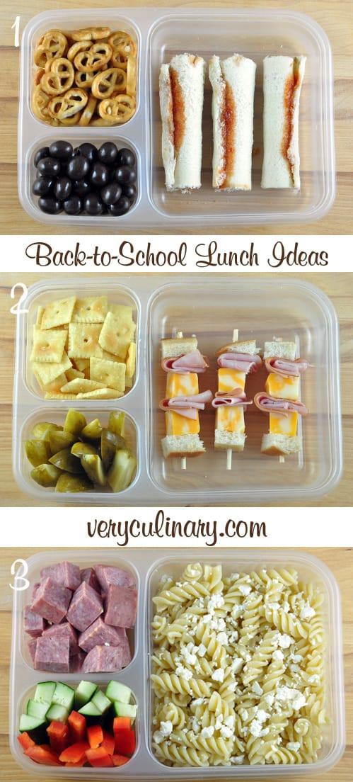 Back To School Lunch Ideas  Back to School Lunch Ideas