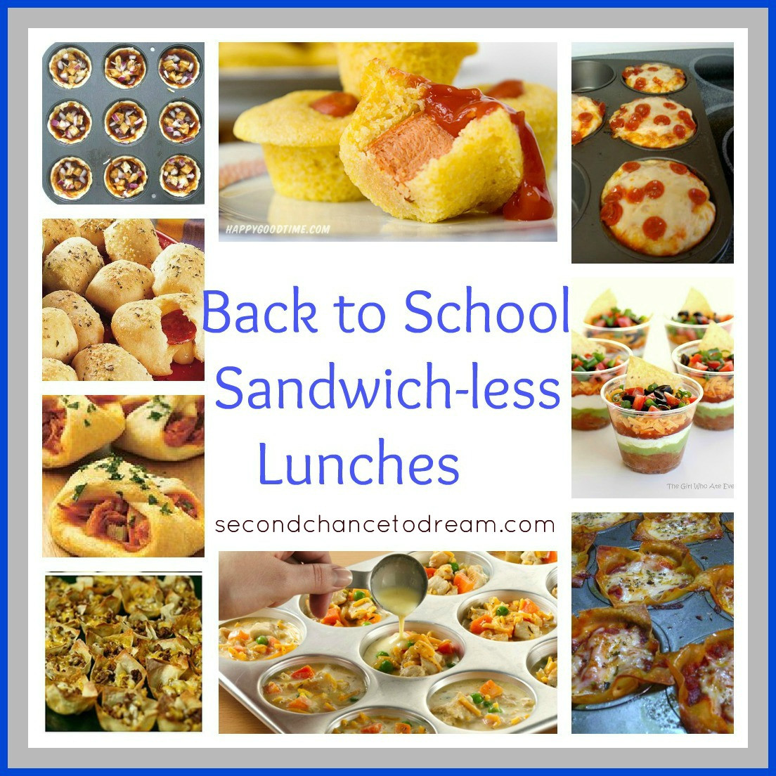 Back To School Lunch Ideas  Back to School Sandwich less Lunch Ideas Second Chance