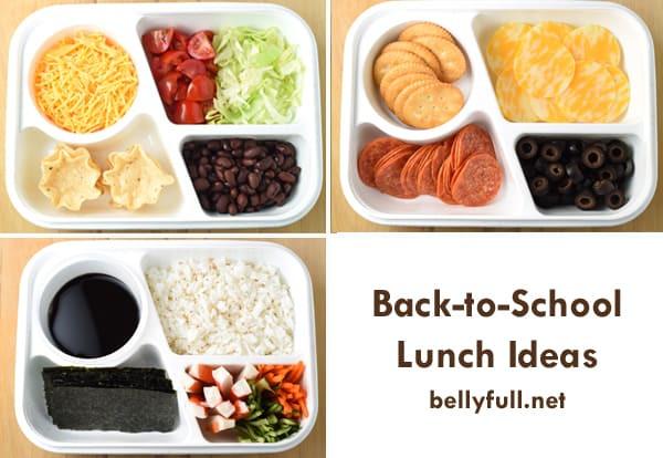 Back To School Lunch Ideas  30 Back to School Lunchbox Ideas Belly Full