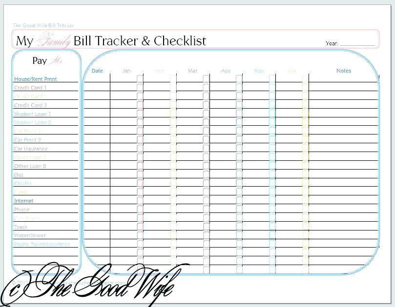 Best Organizer Planner  monthly bill organizer – FriendlyGa