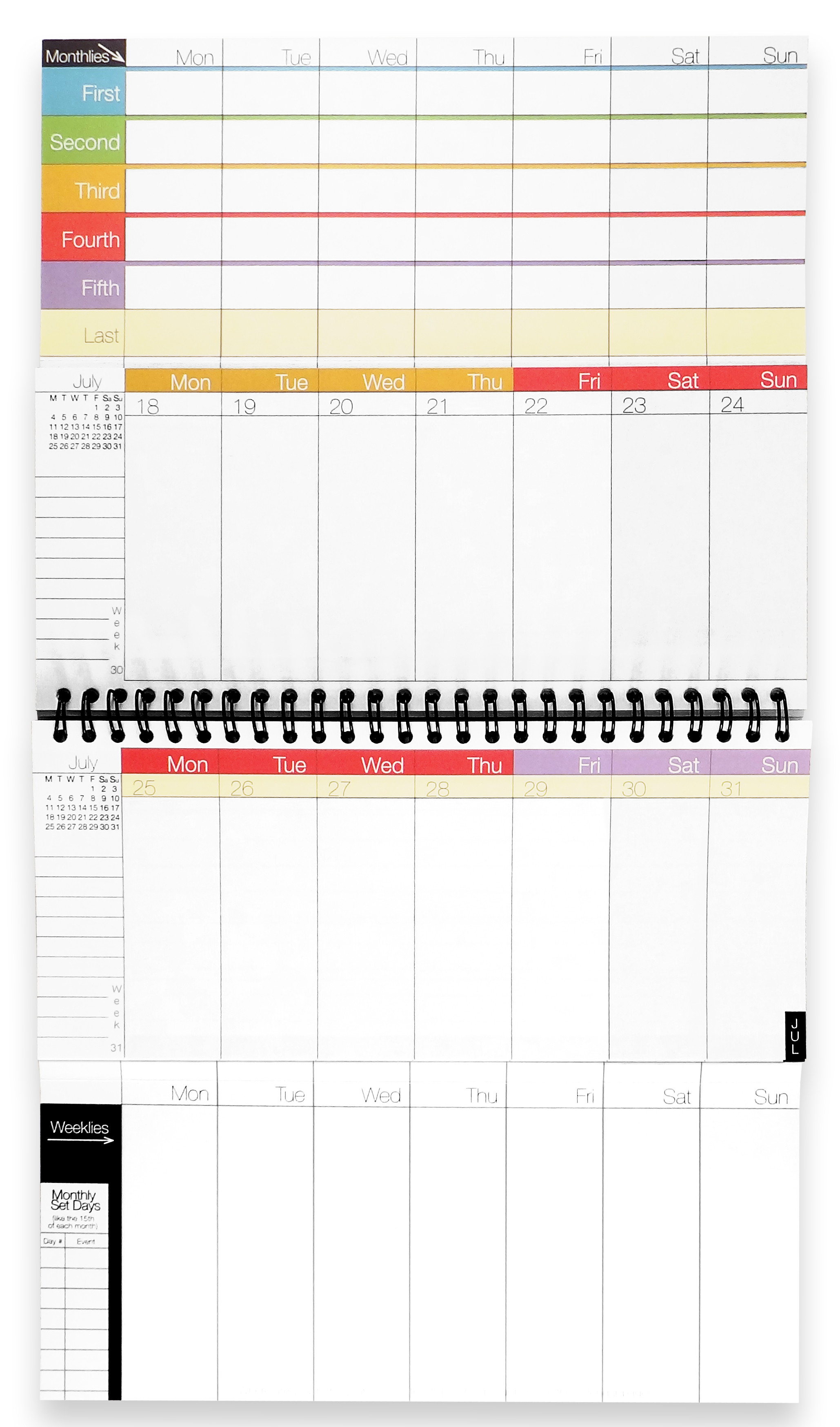 Best Organizer Planner  WeekDate Best Paper Calendar Weekly Planner Organizer