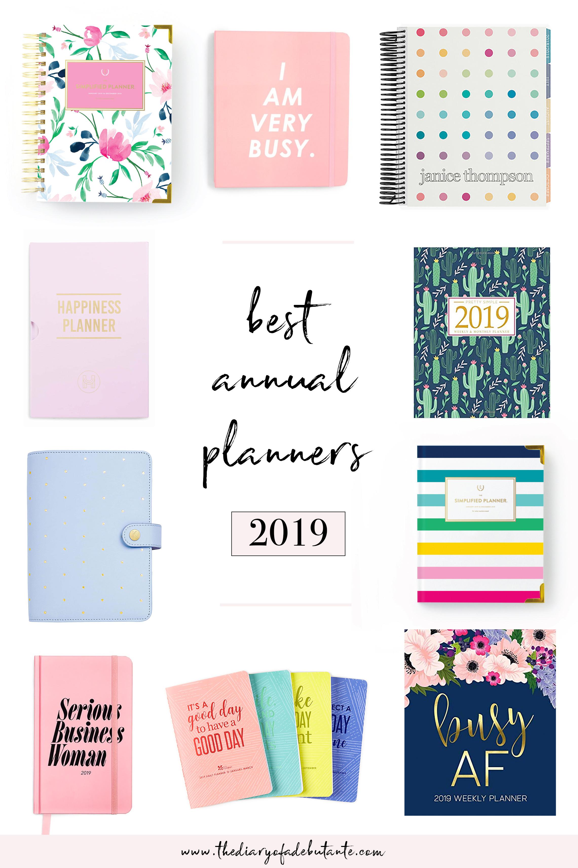 Best Organizer Planner  Best Planners for Working Women 2019 Annual Planner Round Up
