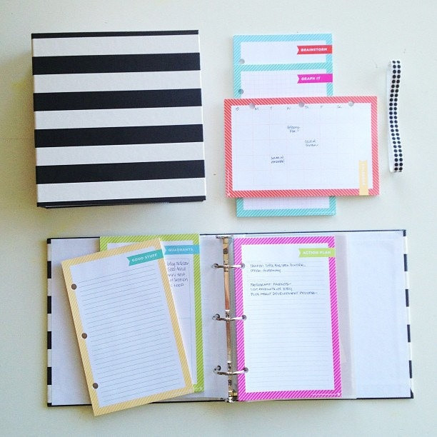 Binder Organization System  cute striped binder organization system by Whitney