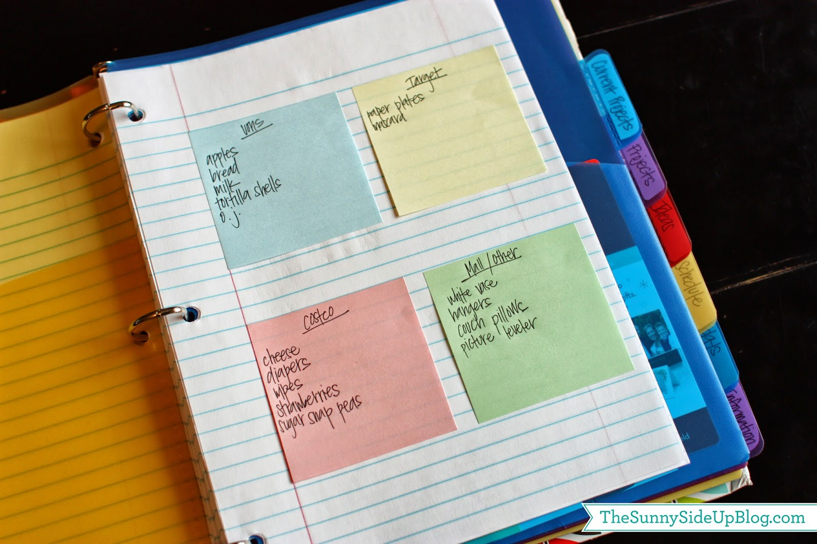 Binder Organization System  My new planner The Sunny Side Up Blog