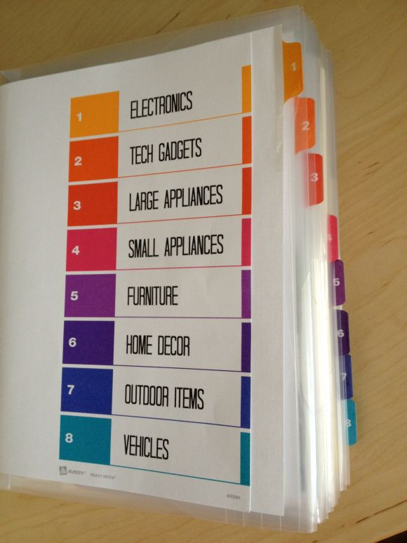 Binder Organization System  1000 ideas about Organize Receipts on Pinterest