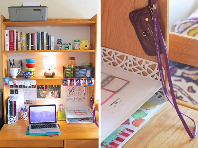College Desk Organization  College Dorm Desk on Pinterest