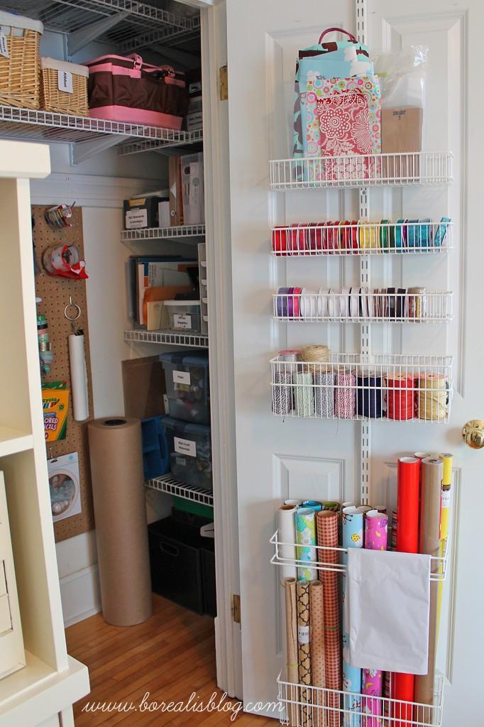 Craft Closet Organizer  fice and Craft Closet Re Organization Borealis
