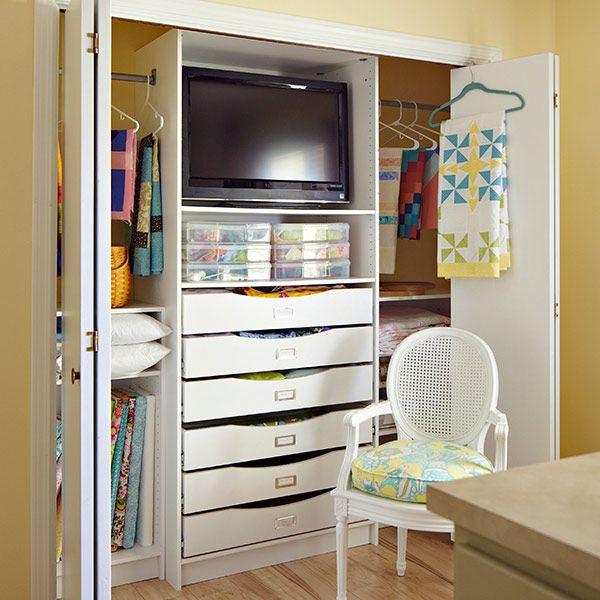 Craft Closet Organizer  Discover a crafty way to organize fabrics craft supplies