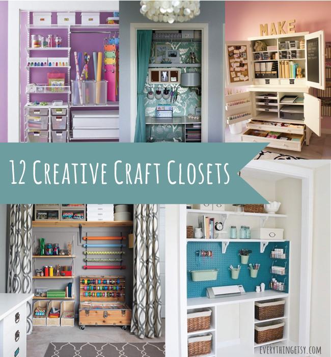 Craft Closet Organizer  12 Creative Craft Closets amazing ideas