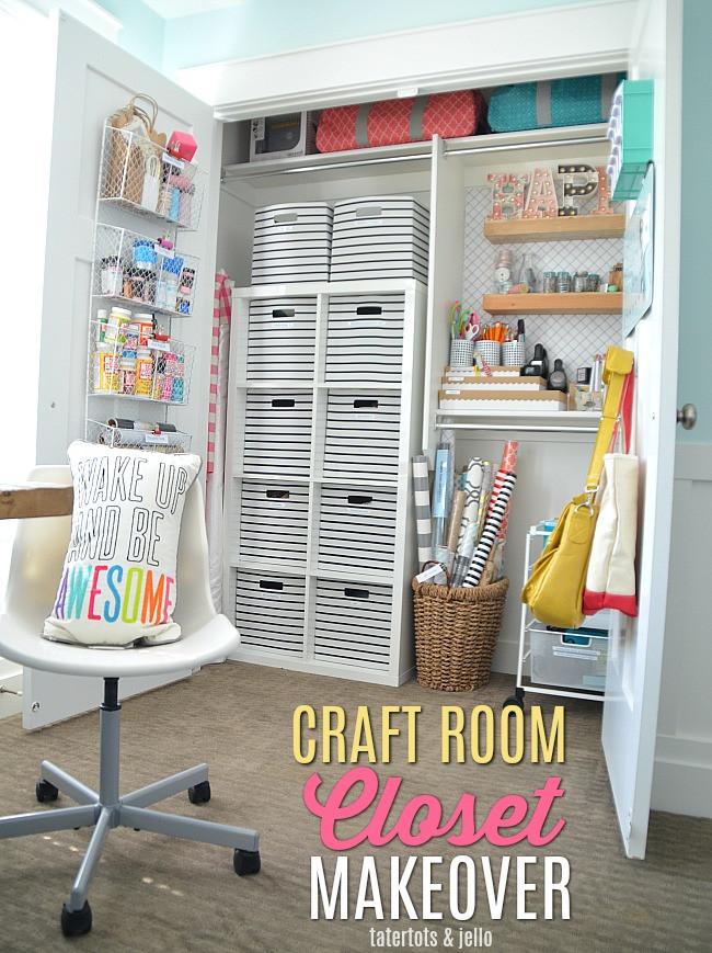 Craft Closet Organizer  Craft Room Closet Makeover Organizing