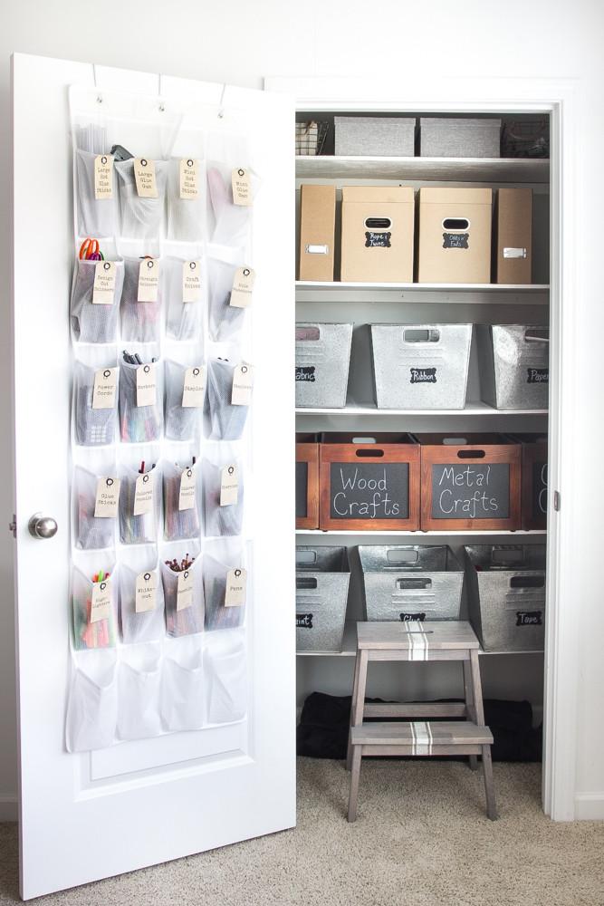 Craft Closet Organizer  How to Organize a Craft Closet