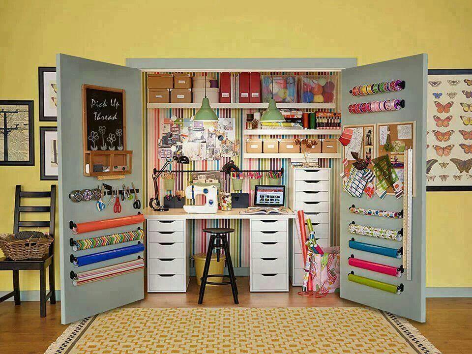 Craft Closet Organizer  Craft room or closet Organizer and storage