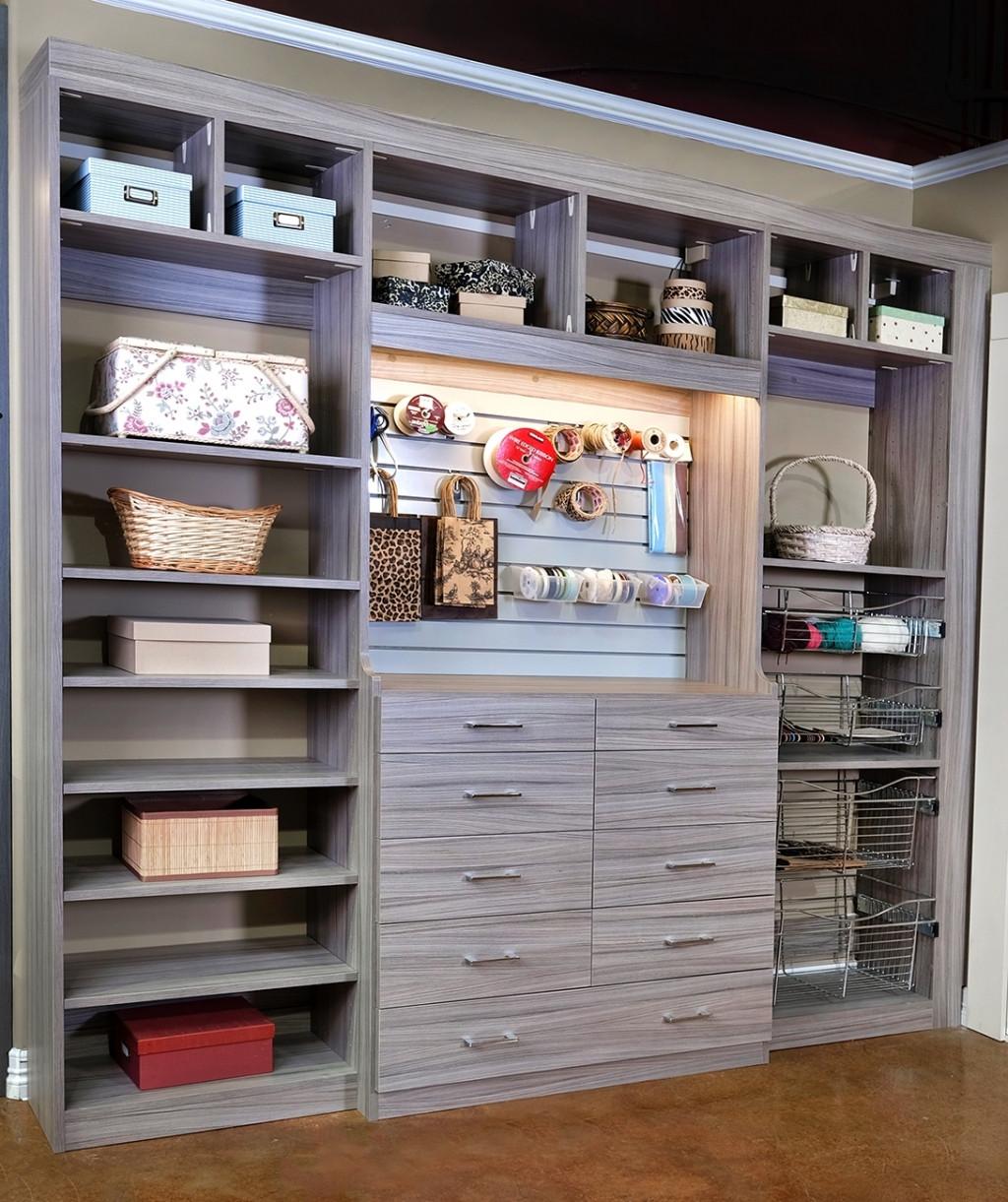 Craft Closet Organizer  Closets To Go Reach In Craft Closet Organizer Laundry And