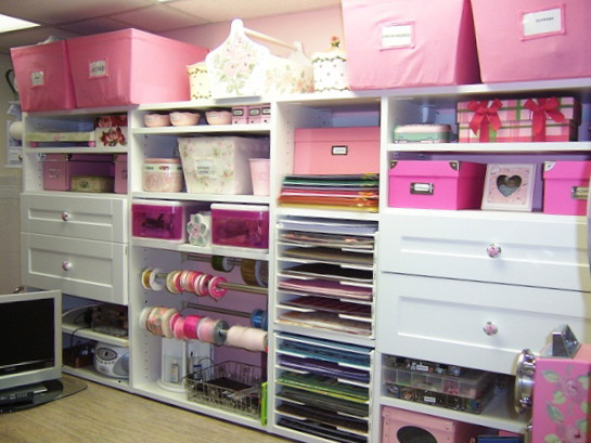 Craft Closet Organizer  PURPLE SAGE ORIGINALS Cabinets and Storage for Craftrooms