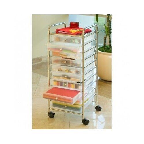 Craft Organizer Cart  Rolling Storage Cart Push Organizer fice Art Craft