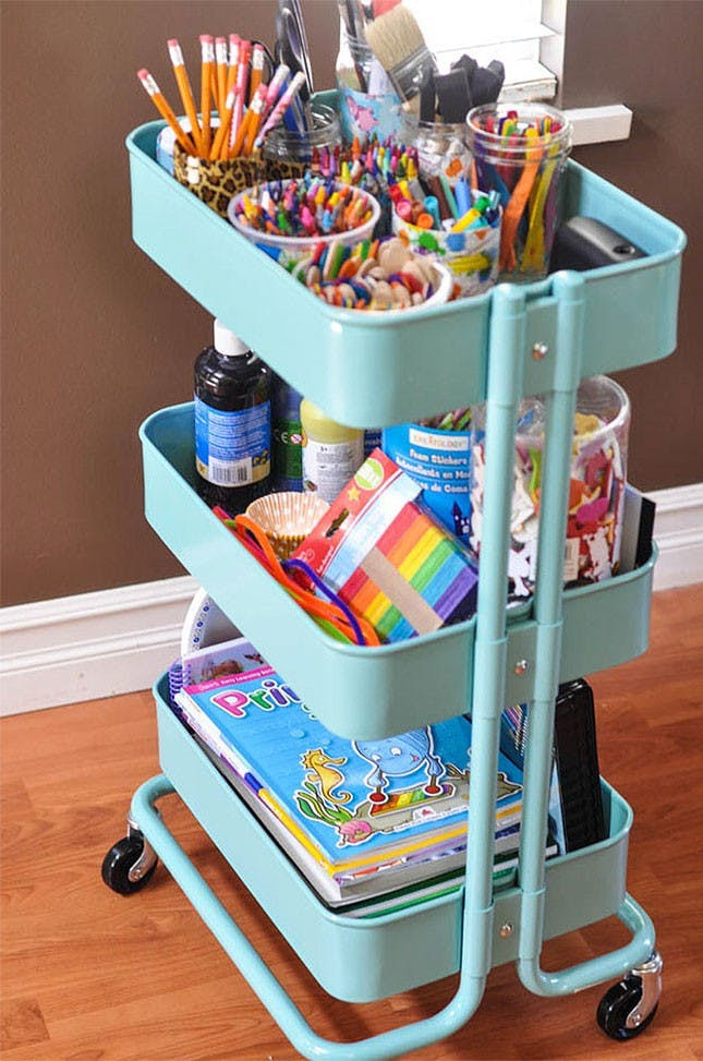 Craft Organizer Cart  17 IKEA Hacks That'll Answer All Your Craft Storage Woes