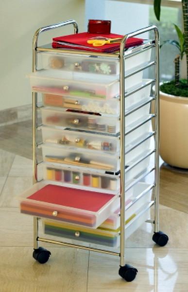 """Craft Organizer Cart  New Scrapbook Supplies Storage Cart Crafts & 12""""x12"""