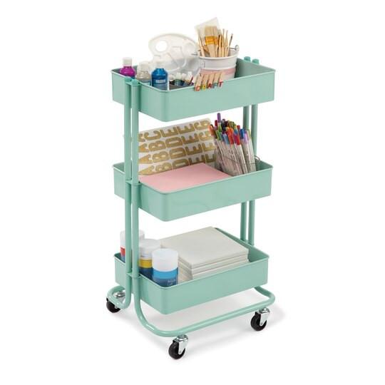 Craft Organizer Cart  Find the Mint Lexington 3 Tier Rolling Cart By