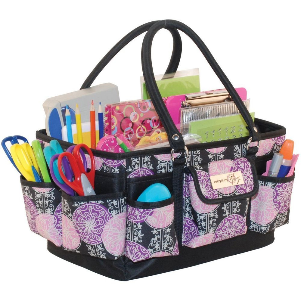 Craft Organizer Totes  Scrap Book Organizer Tote Carrier Bag Crafts Paper Storage