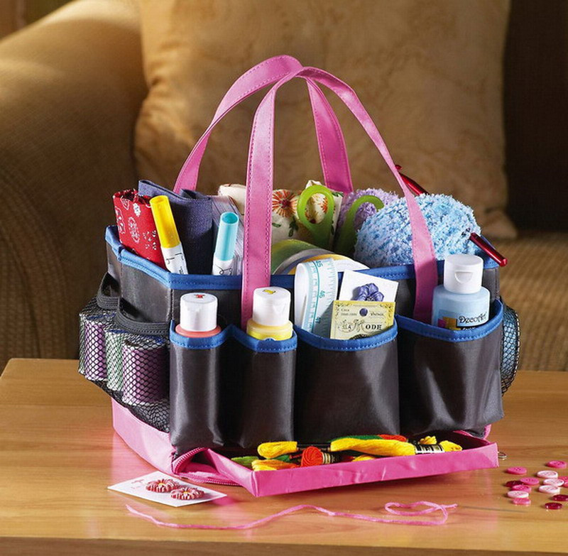 Craft Organizer Totes  New Crafts Scrapbook Supplies Organizer Tote Bag Multi