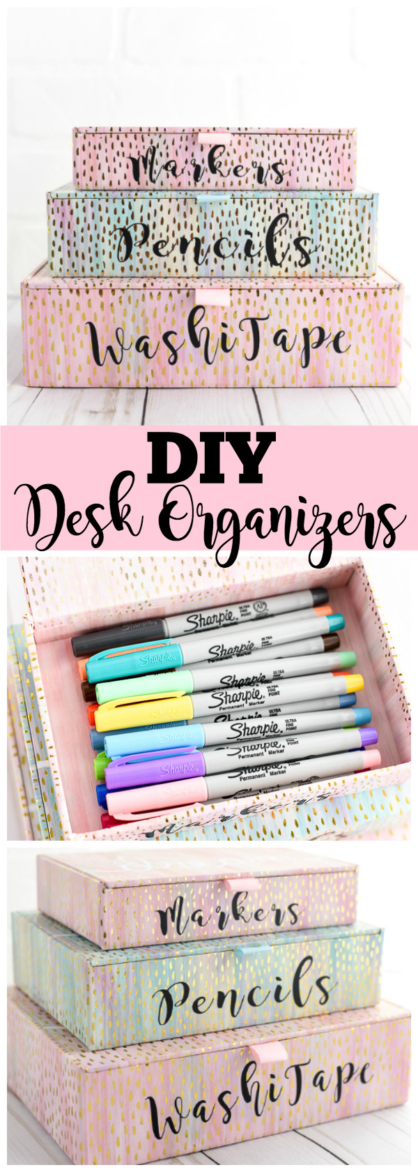 Desk Organization Diy  DIY Desk Organizers