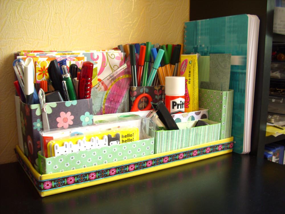 Desk Organization Diy  DIY Desk Organizer