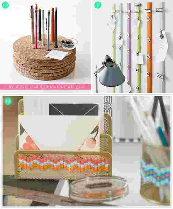 Desk Organization Diy  Roundup 15 DIY fice Storage and Organization Ideas