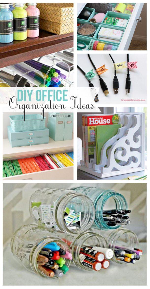 Desk Organization Diy  DIY fice Organization Ideas