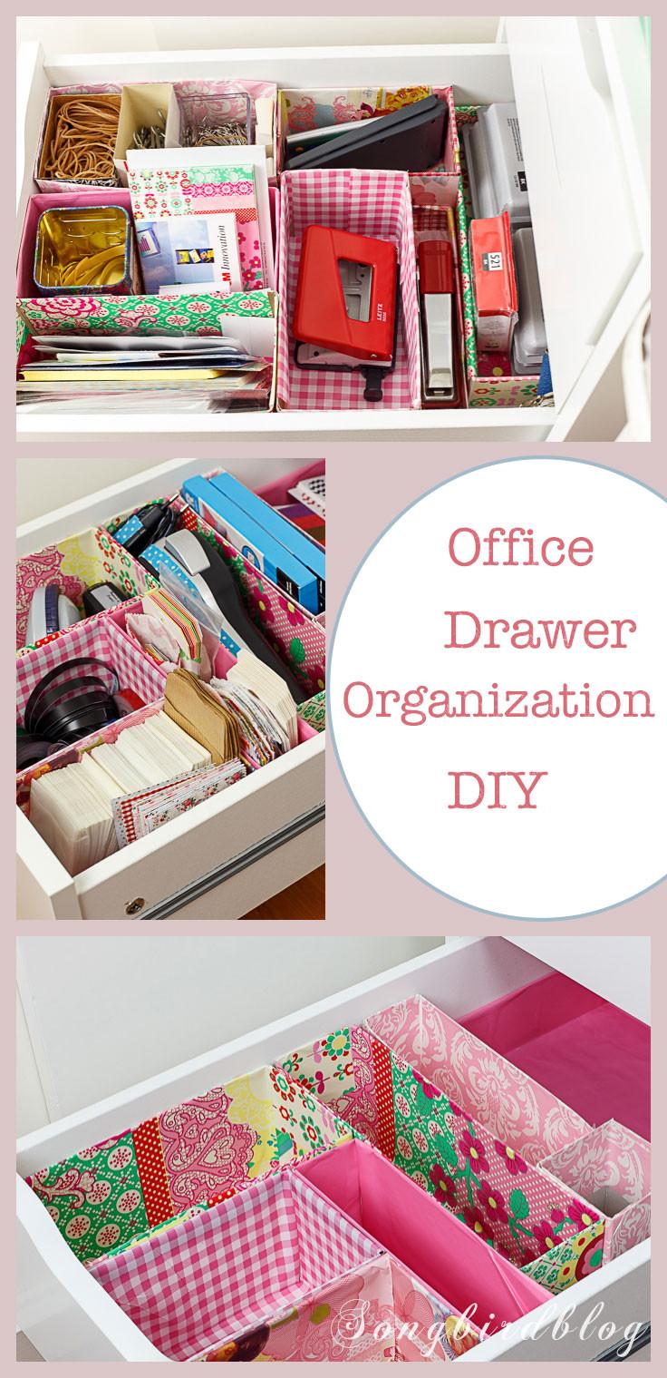 Desk Organization Diy  fice Drawer Organizing DIY with free materials