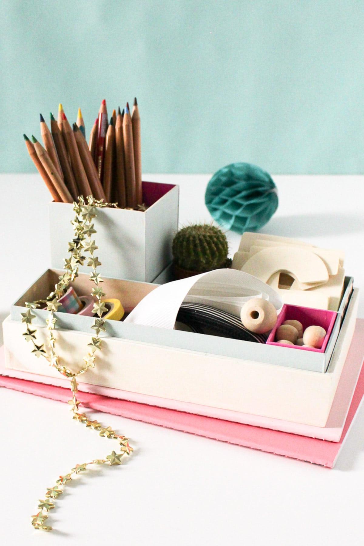 Desk Organizer Diy  DIY Nesting Desk Organizer