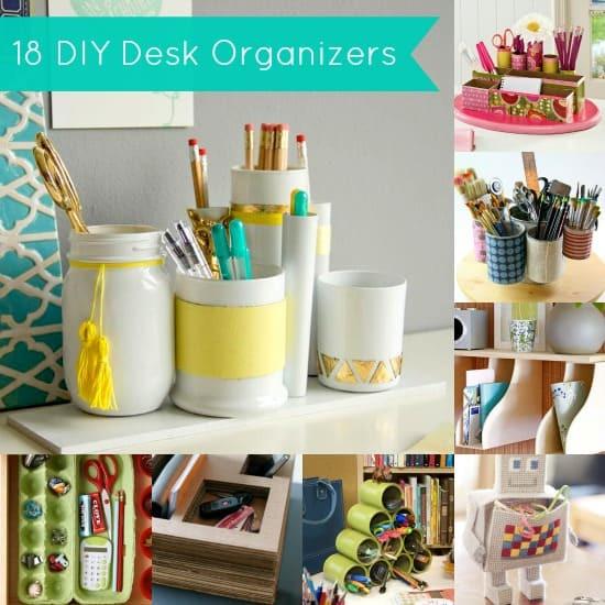 Desk Organizer Diy  DIY Desk Organizer 18 Project Ideas DIY Candy