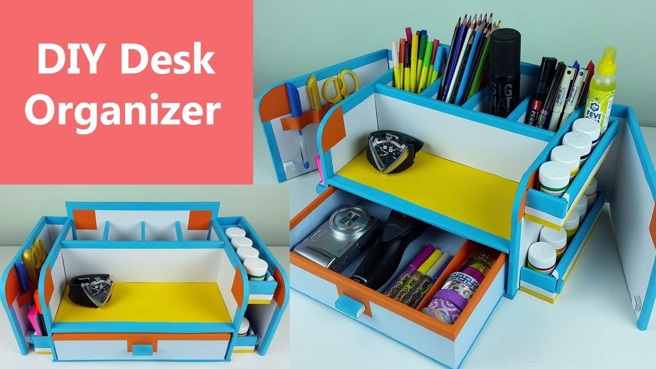 Desk Organizer Diy  A stylish and pact DIY desk organizer drawer organizer