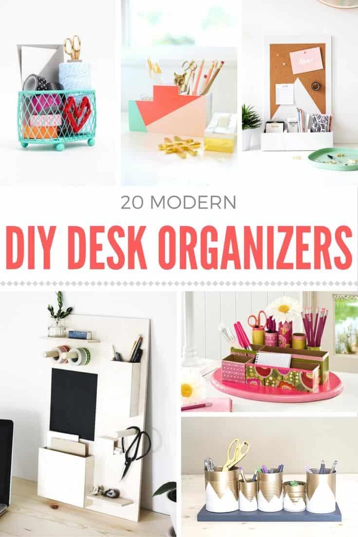 Desk Organizer Diy  How to make a DIY desk organizer Mod Podge Rocks