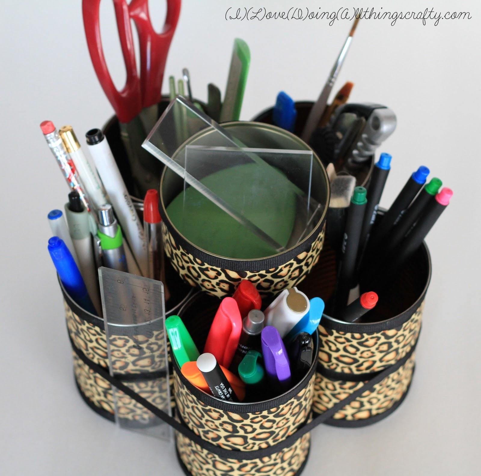 Desk Organizer Diy  I Love Doing All Things Crafty DIY Desk Organizer