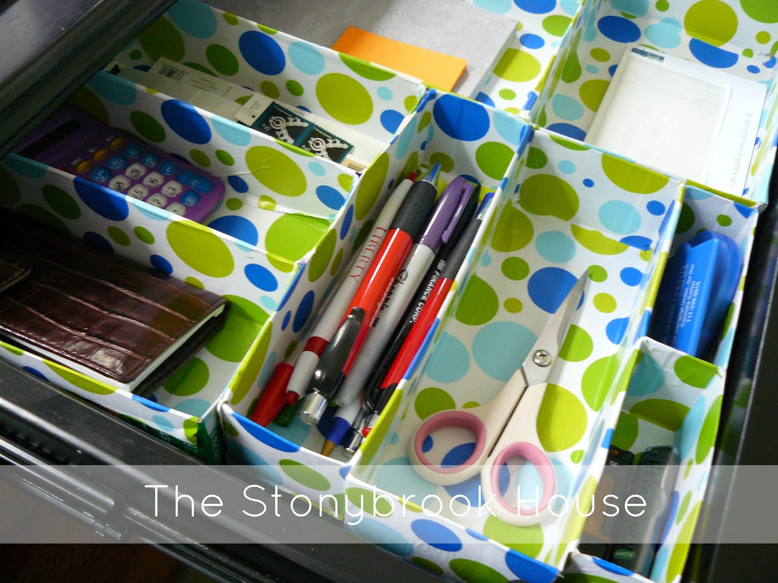 Desk Organizer Diy  DIY Cereal Box Drawer Organizer The Stonybrook House