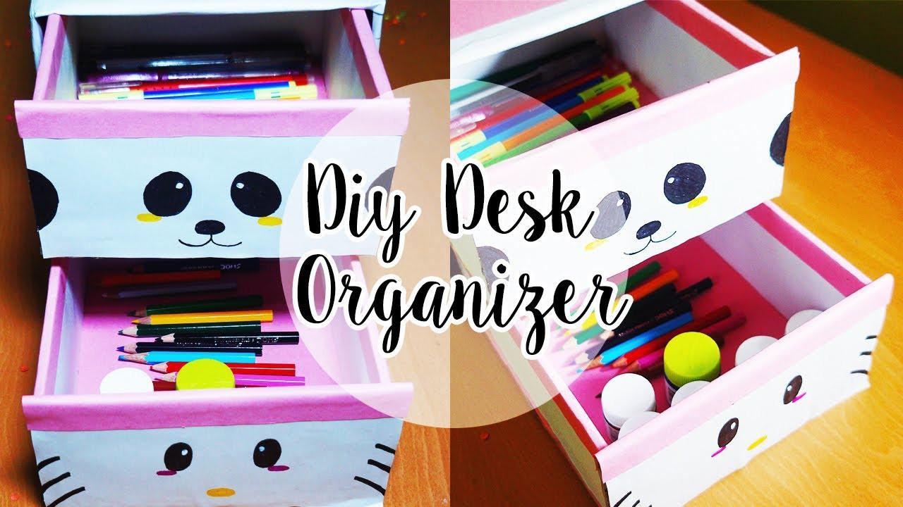 Desk Organizer Diy  DIY Desk Decor DIY Desk Organizer Cardboard