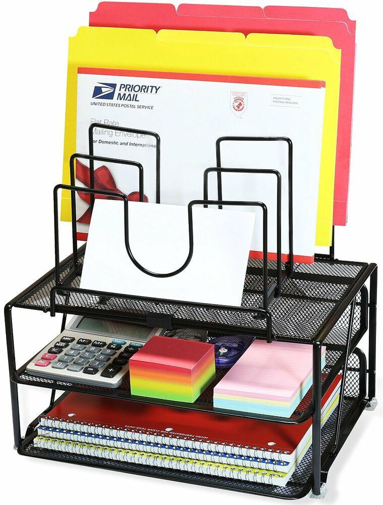 Desk Organizer Tray  Desk Organizer Tray Shelf Sorter Storage File Folder
