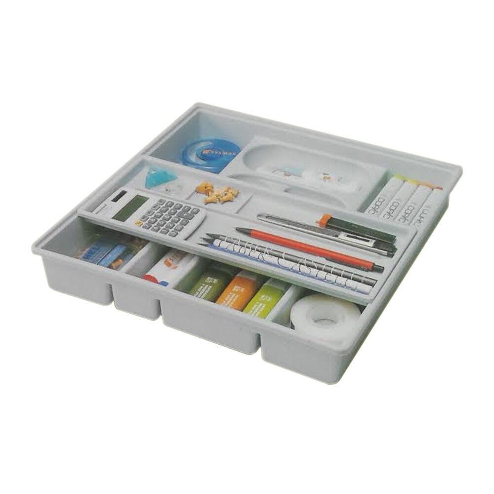Desk Organizer Tray  Drawer Organizer Slide Double Shelf Home fice Desk