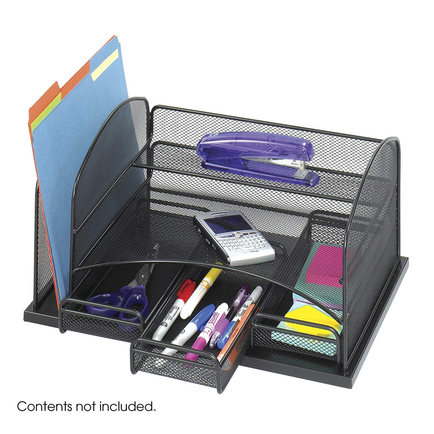 Desk Organizer Tray  Safco Products yx Mesh Desk Organizer with 3 Drawers