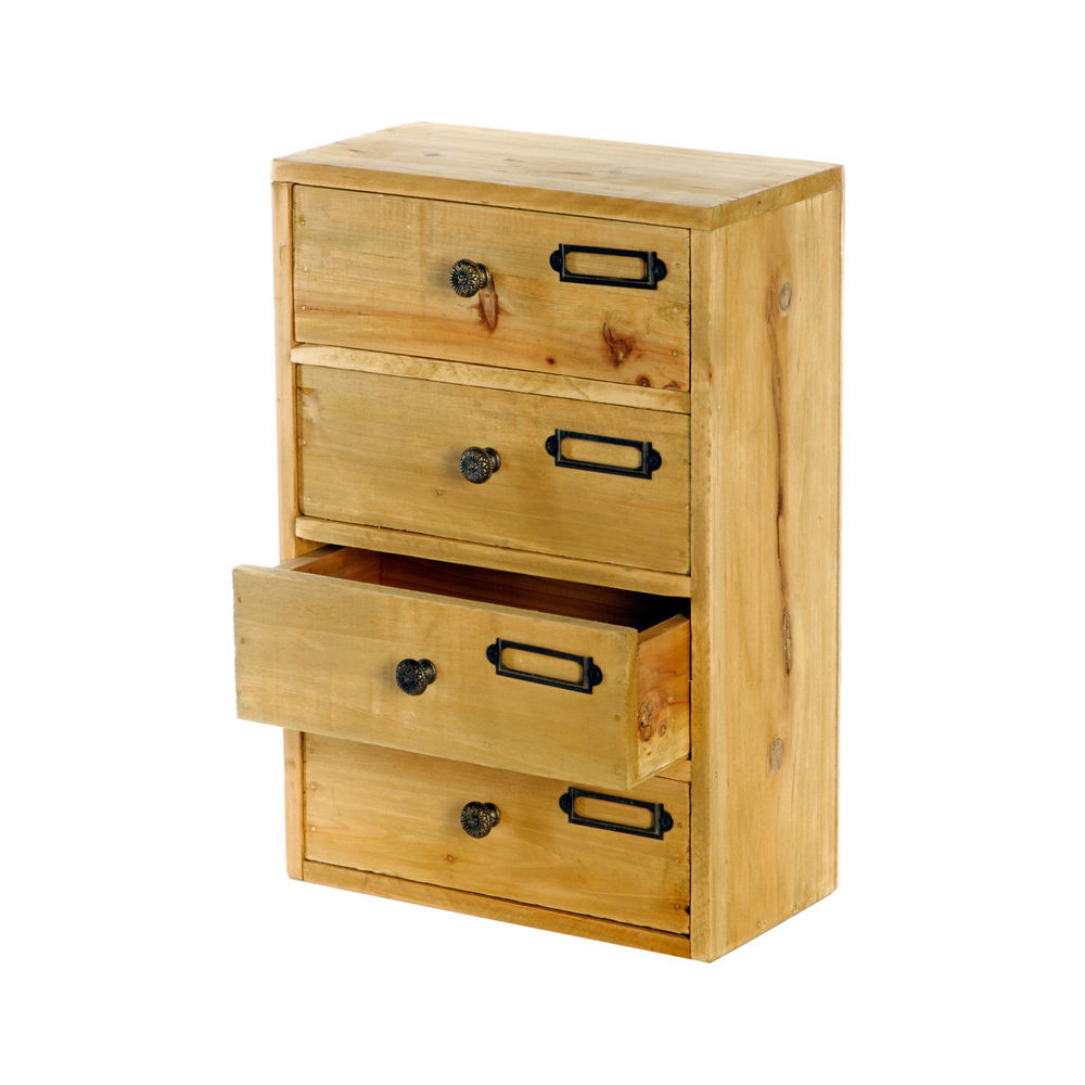 Desk Organizer With Drawers  Shabby Chic Home fice Drawers Wood Storage Desk