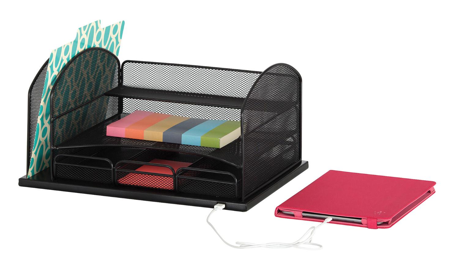 Desk Top Organizer  Amazon Safco Products yx Mesh 5 Sort Vertical