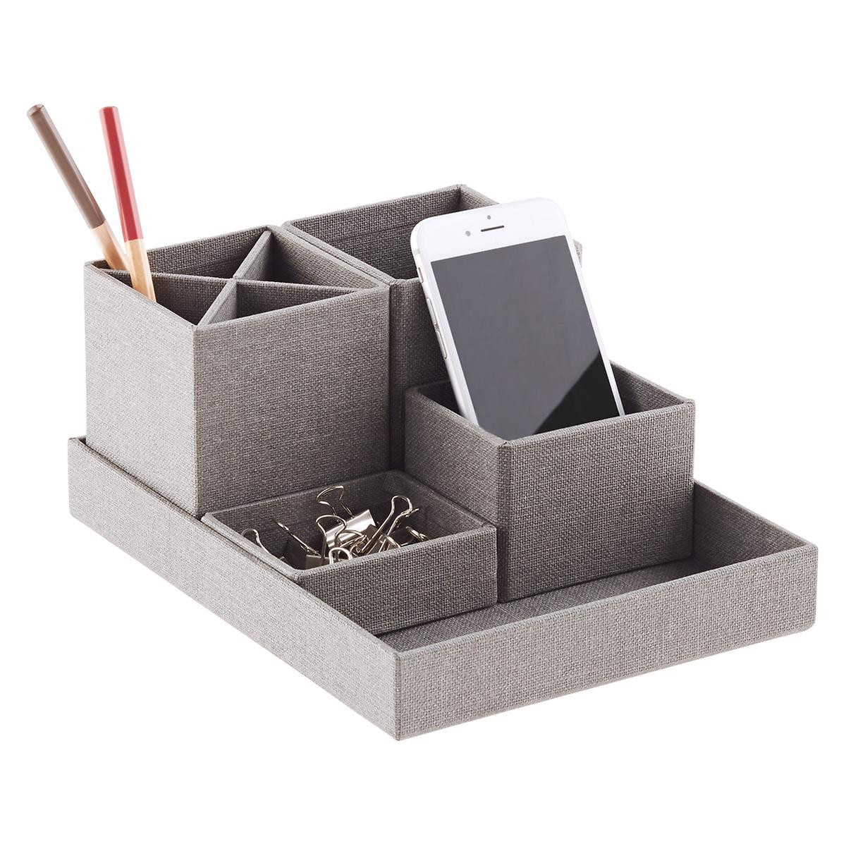 Desk Top Organizer  Bigso Marten Grey Desktop Organizer