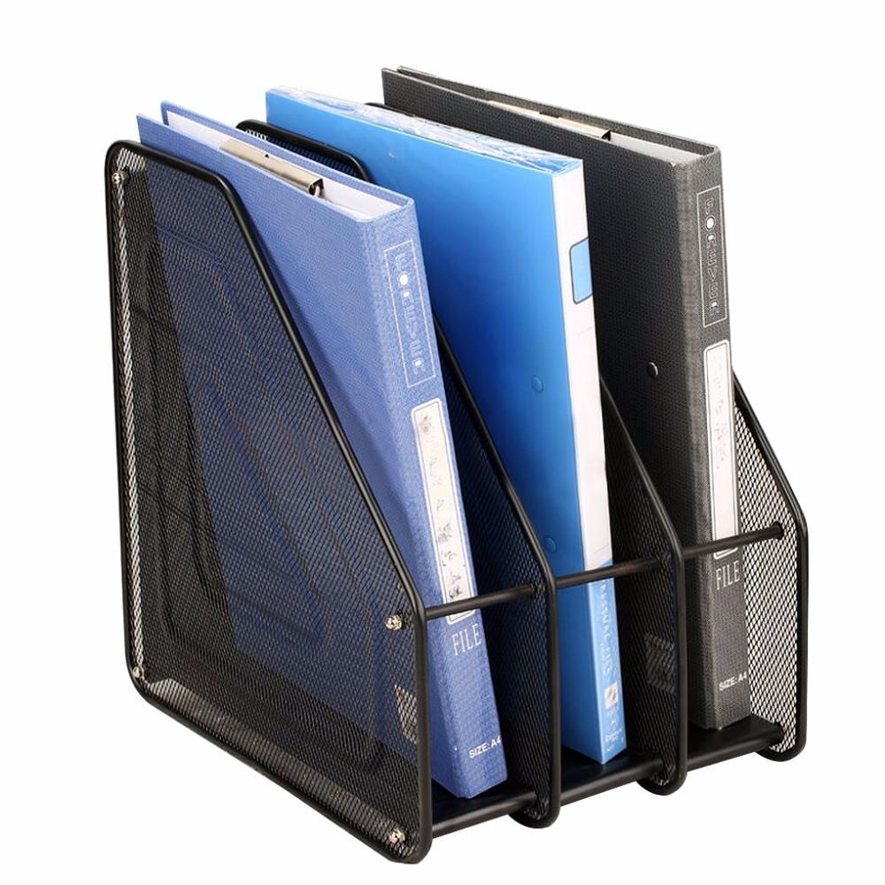 Desktop File Folder Organizer  Metal Mesh Desktop Basket Resume File Folder Holders